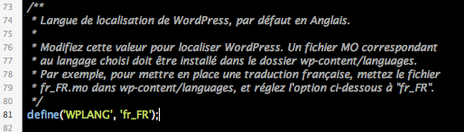 Wordpress en français