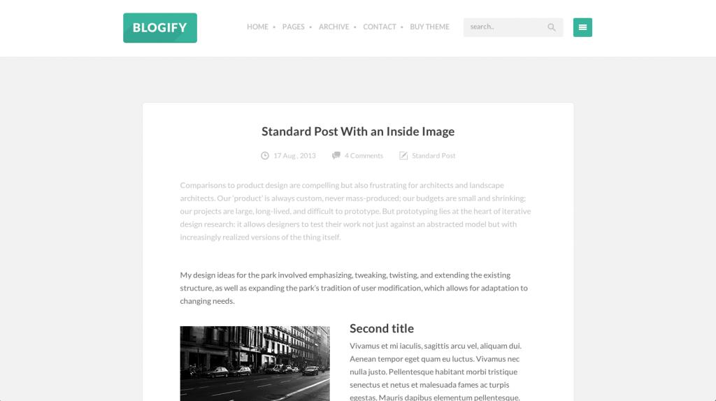 thème d'écrivain blogify