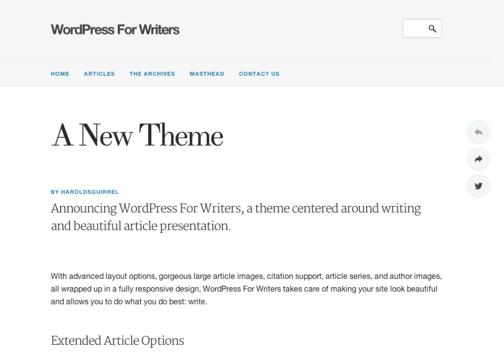 wordpress pour écrivain