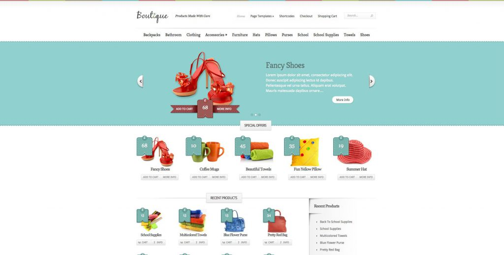 boutique theme wordpress
