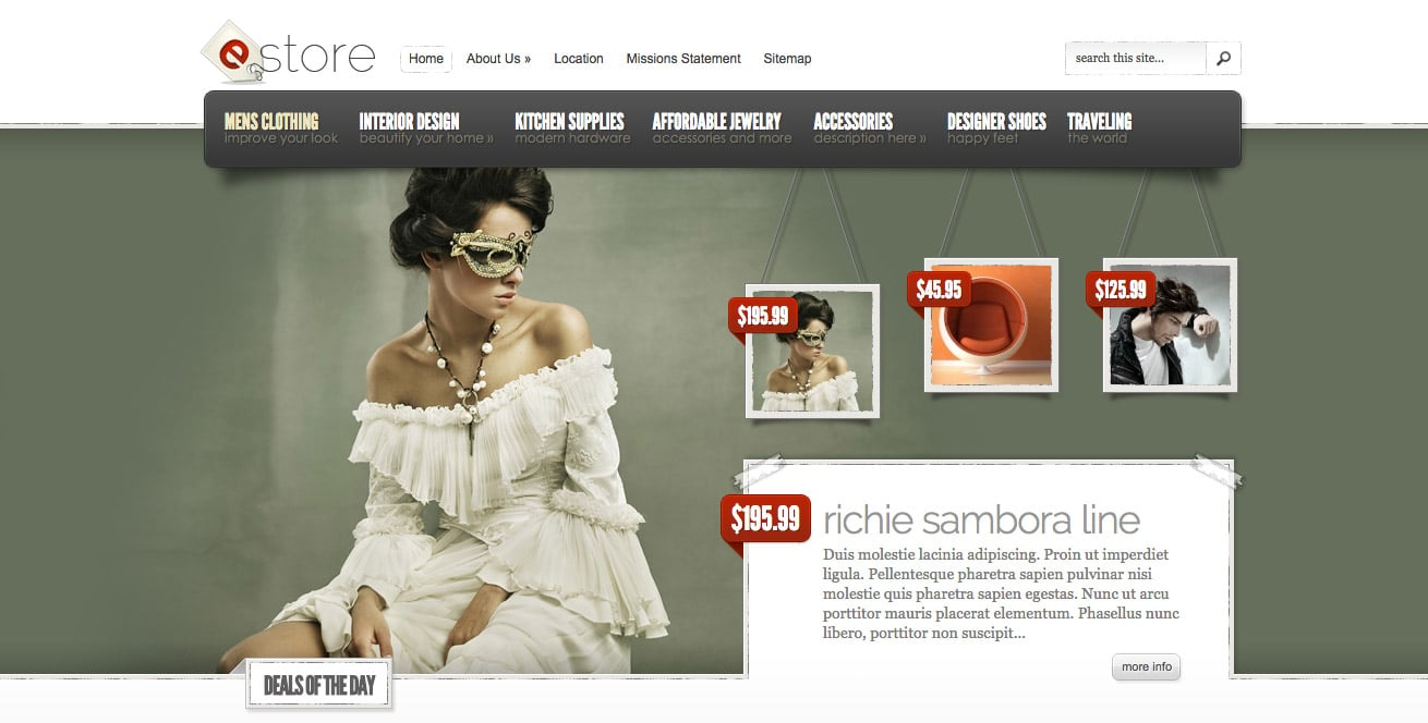 estore theme wordpress