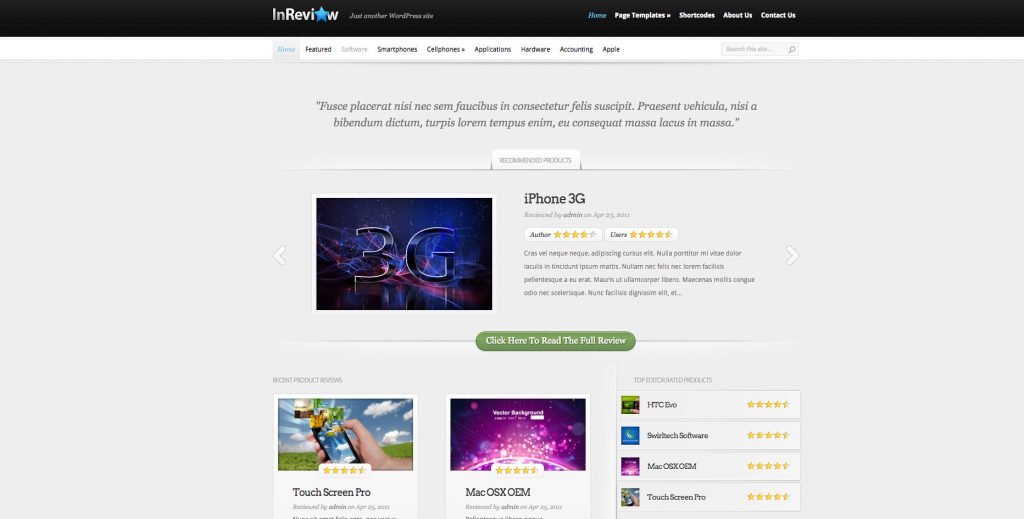 inreview theme wp