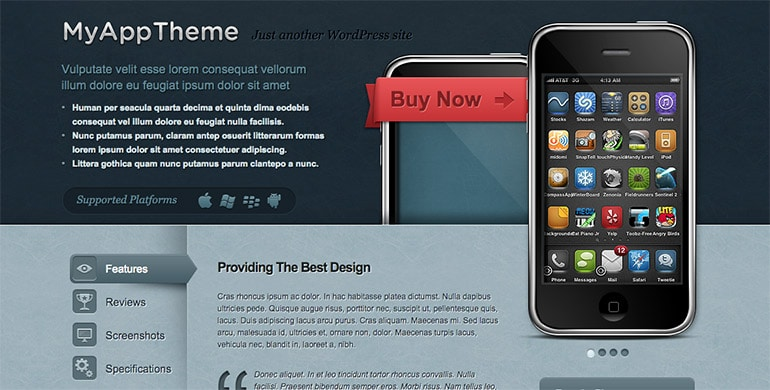 myapp iphone theme