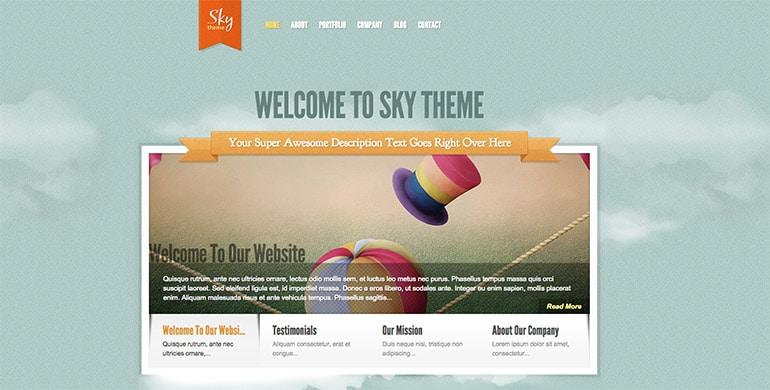 sky theme