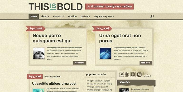 bold theme