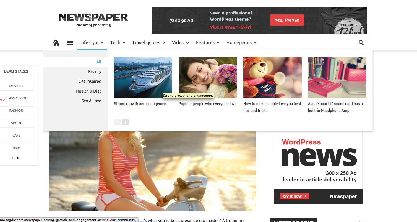 template newspaper