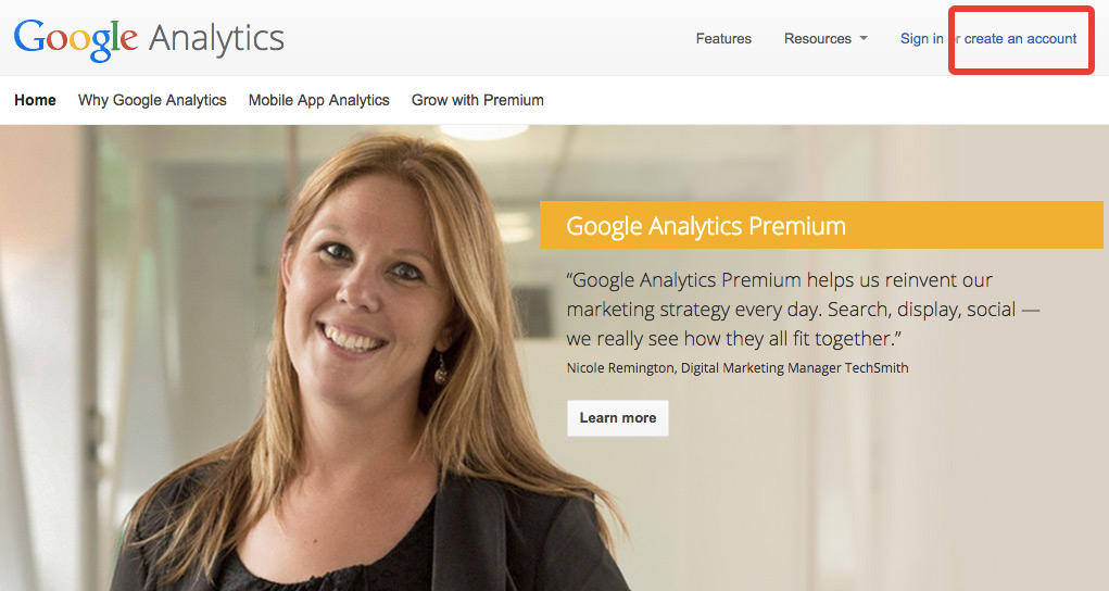 accueil google analytics