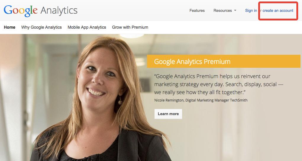 accueil google analytics