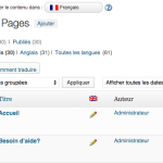 traduction de wordpress
