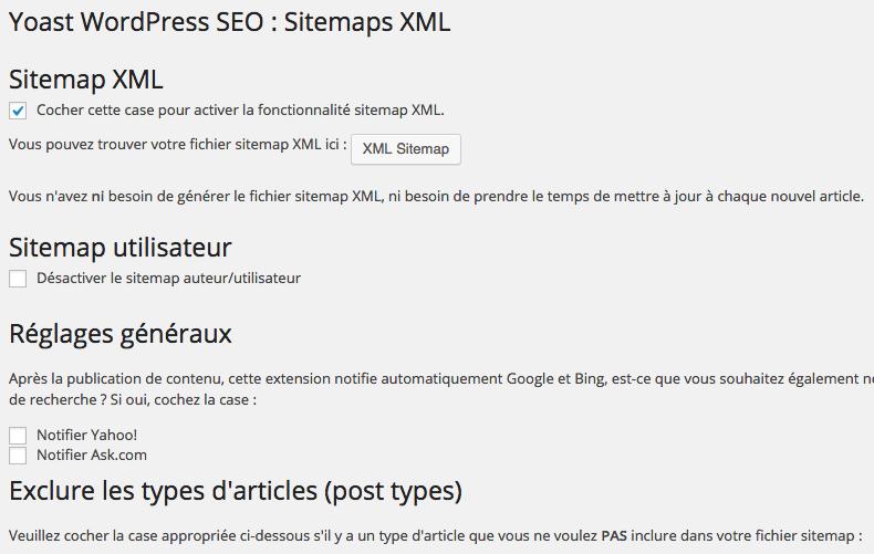 WordPress SEO xml sitemap