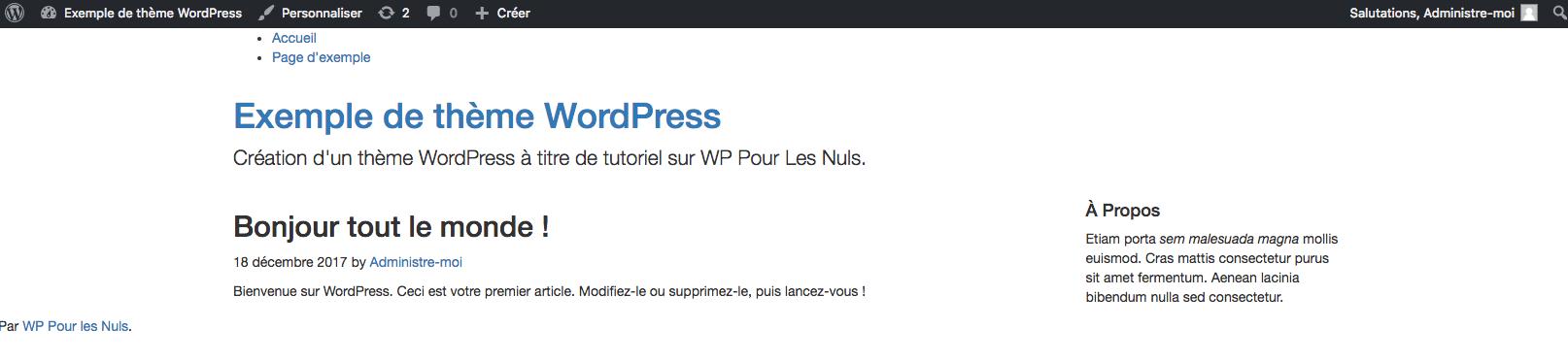 tutoriel thème wordpress