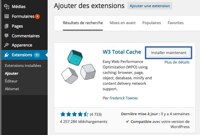 installer-w3totalcache