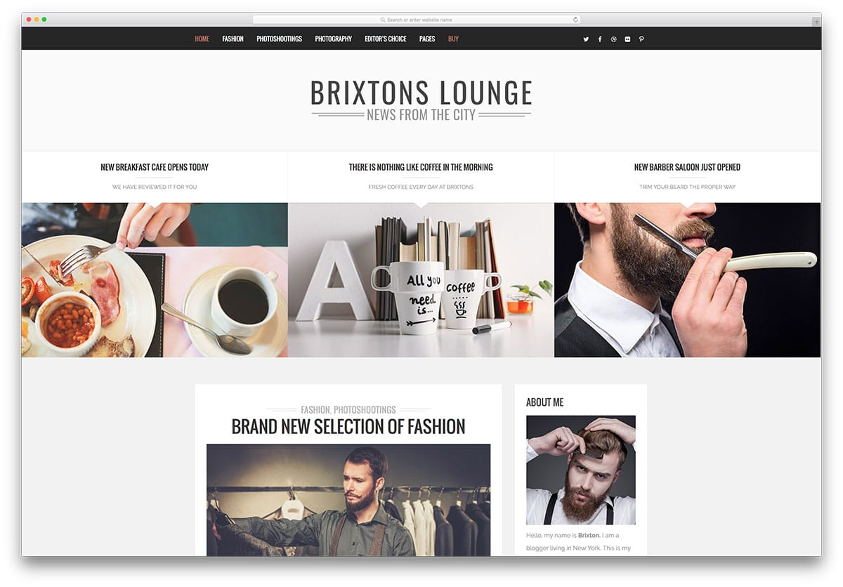brixton - thème de blog WordPress créatif