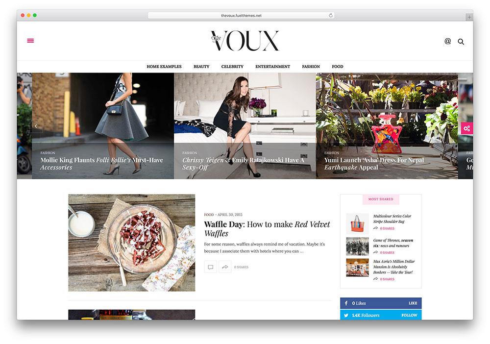 The Voux - thème magazine clan