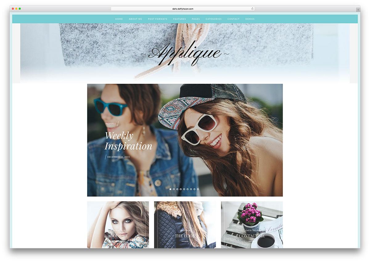 applique – thème WordPress de blog de mode simple