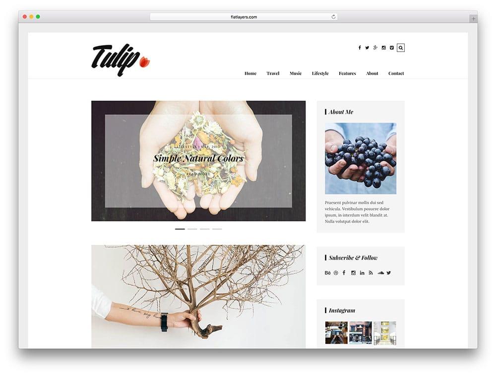 tulip – thème de blog WordPress simple