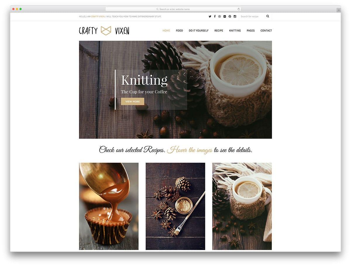 Vixen – thème de blog WordPress minimaliste