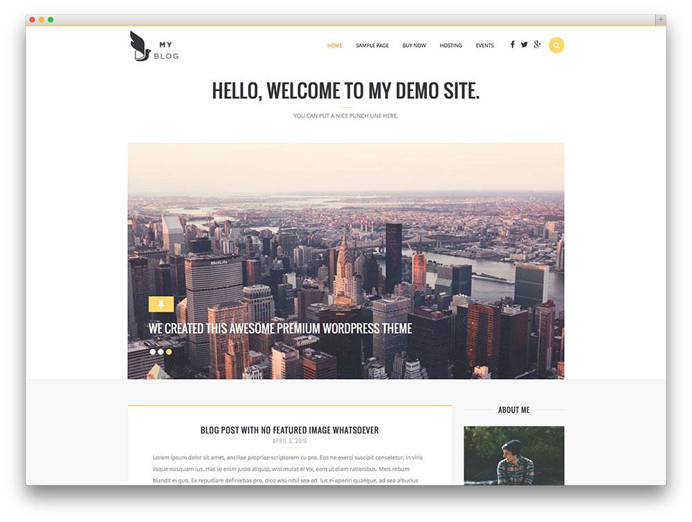 MyBlog – thème de blog WordPress simple