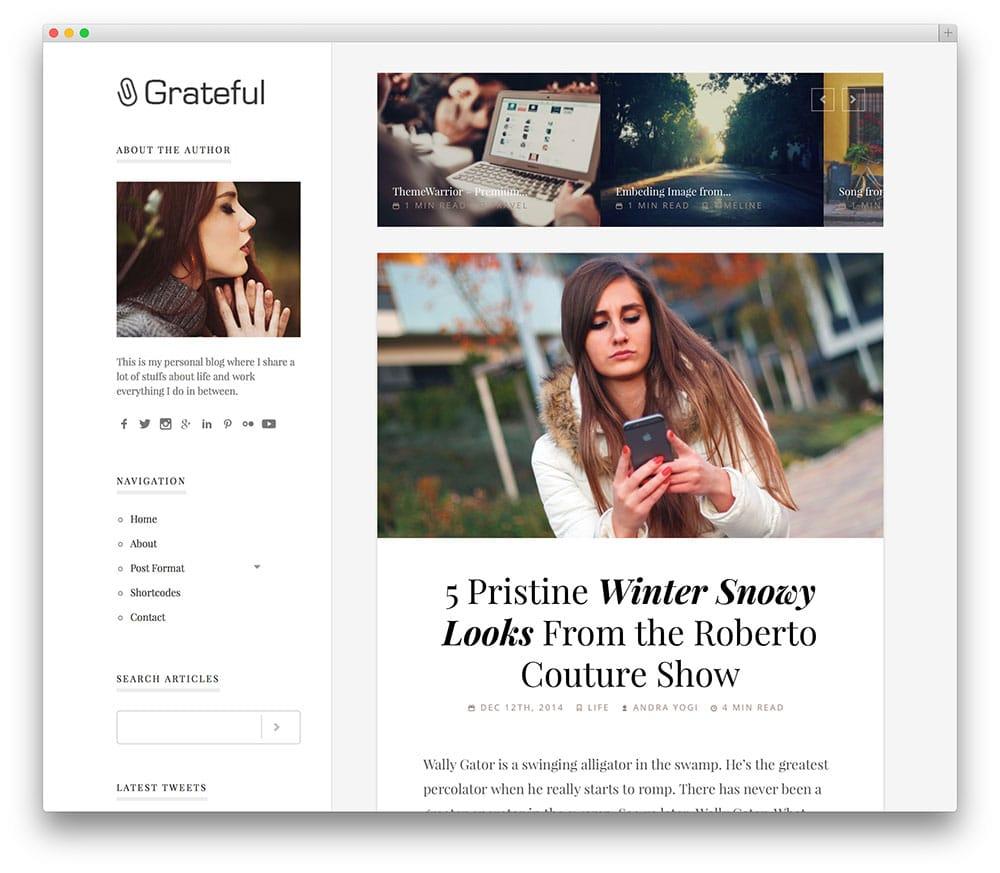 Grateful - thème de blog net