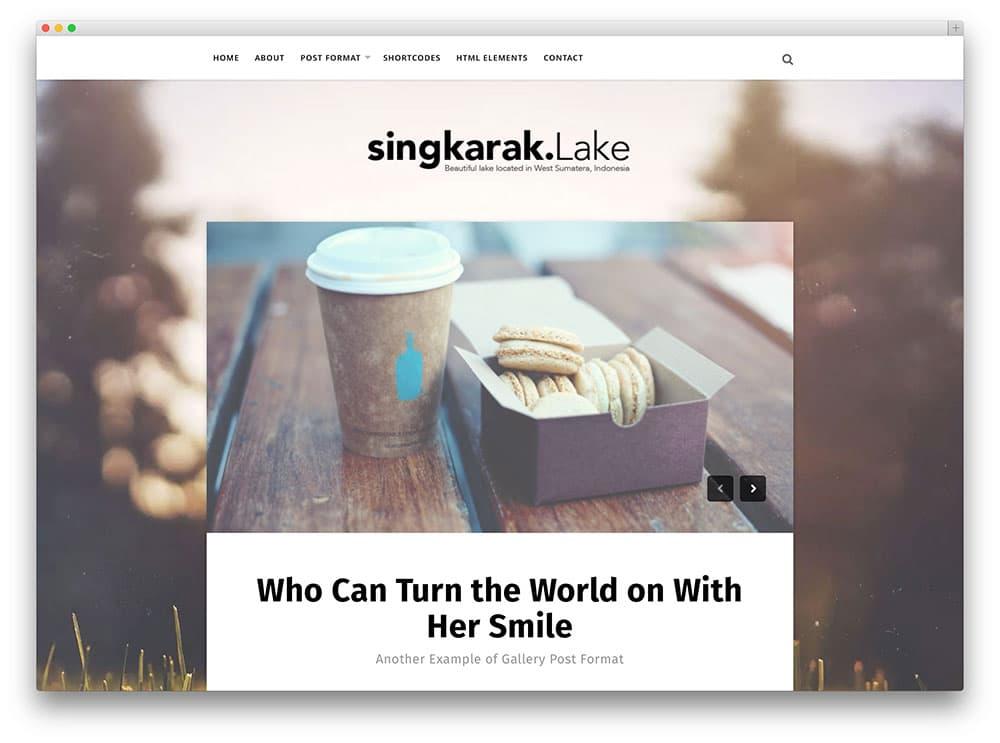 Singkarak - thème de blog splendide