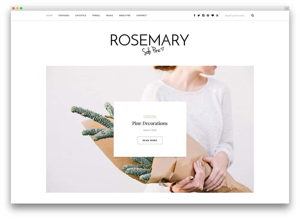 Rosemary - site web pour photographe