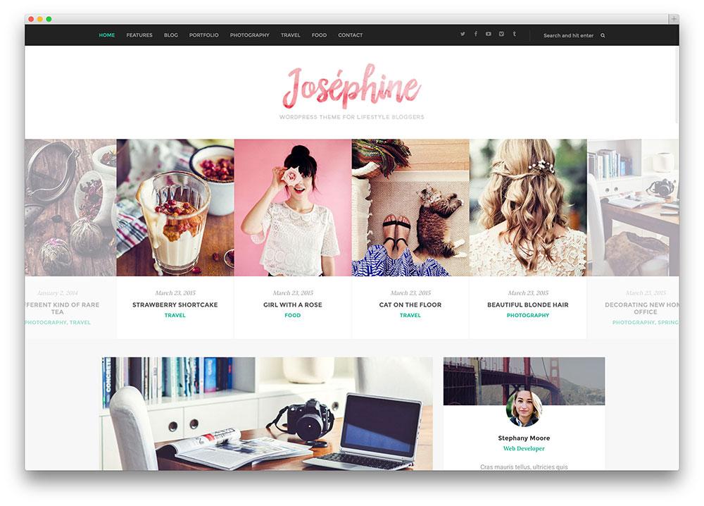 Josephine – thème de blog de style de vie fantastique