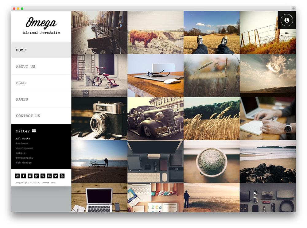 Omega - template photographe