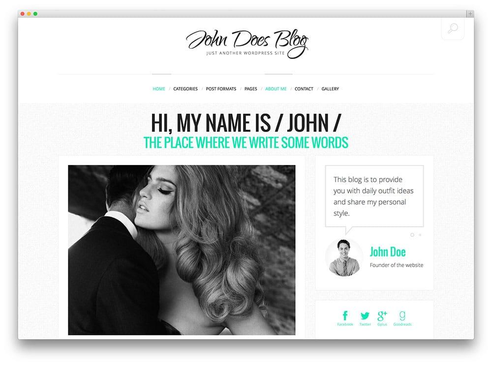 John Doe's Blog - modèle de blog personnel