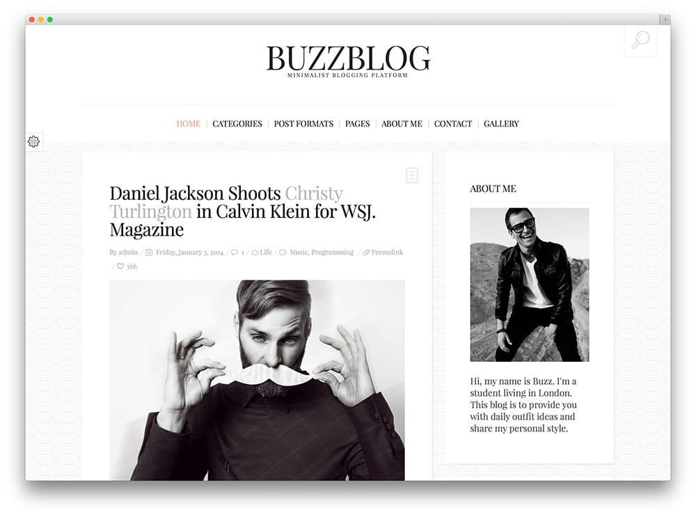 BuzzBlog - thème de blog minimaliste