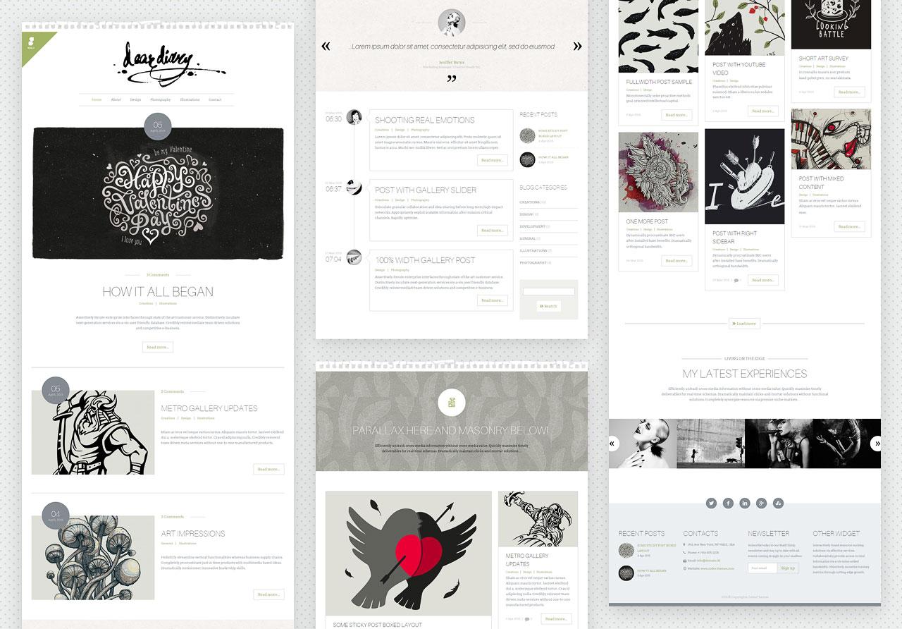 Scalia - thème de blog créatif et minimaliste