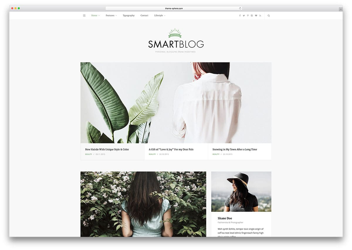 Smart Blog – thème de blog WordPress minimaliste