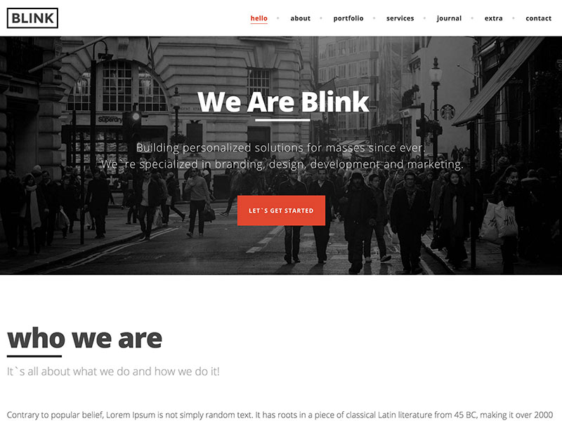 blink theme wordpress