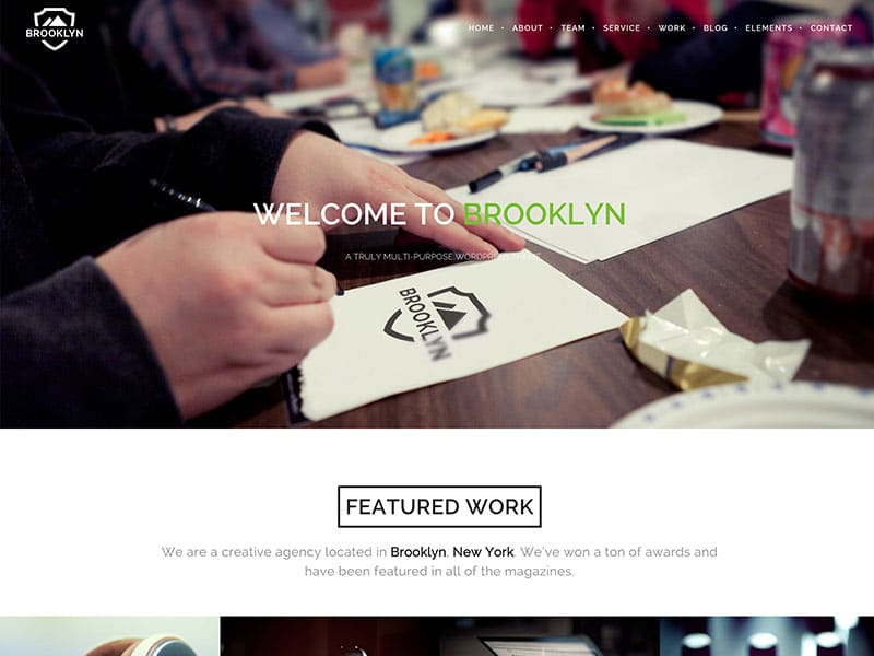 brooklyn one page theme