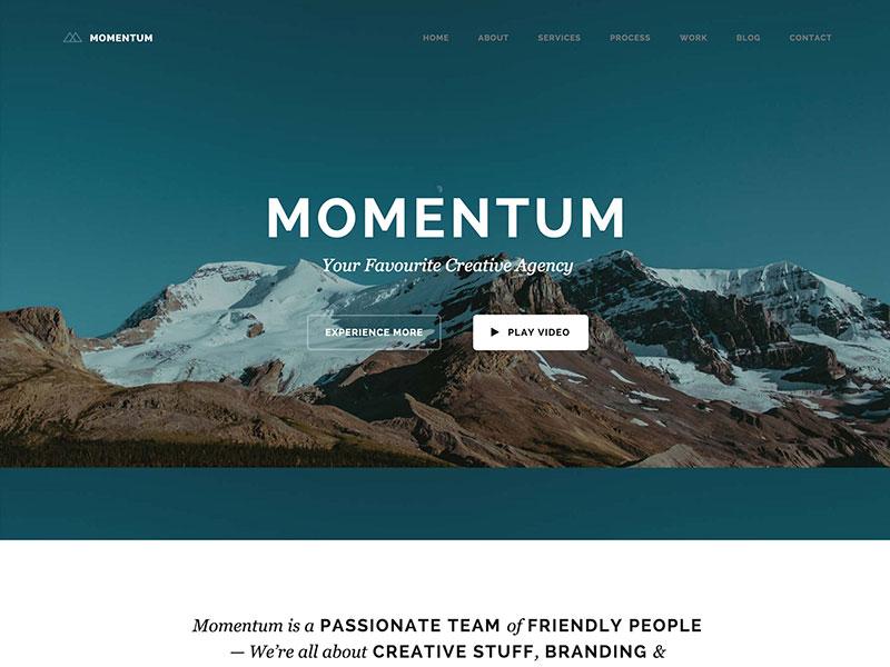 momentum wordpress