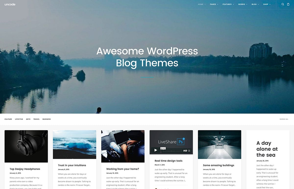 Theme Wordpress 2016 pour blogue