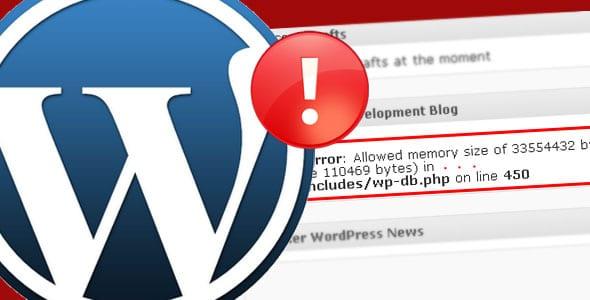 erreur mémoire limite wordpress