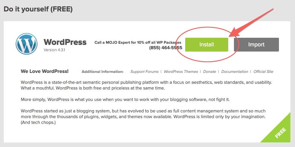 Débuter Installation WordPress