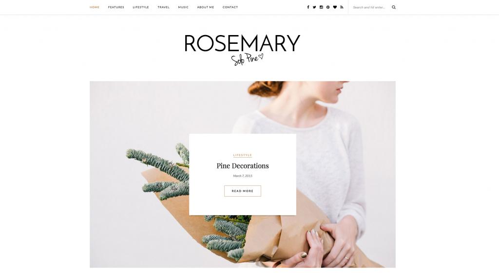 Thème Rosemary