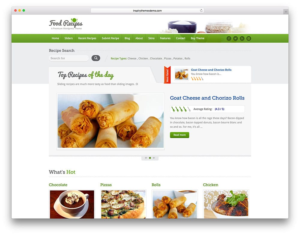 food-recipes-classic-directory-theme