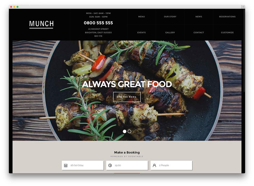 munch-wordpress-restourant-theme