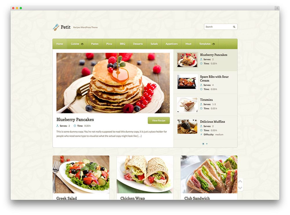 petit-recipes-wordpress-theme
