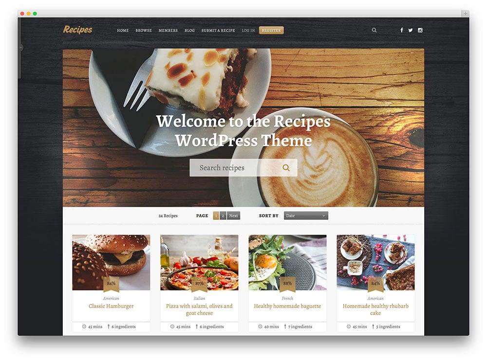 recipes-shareing-wordpress-template