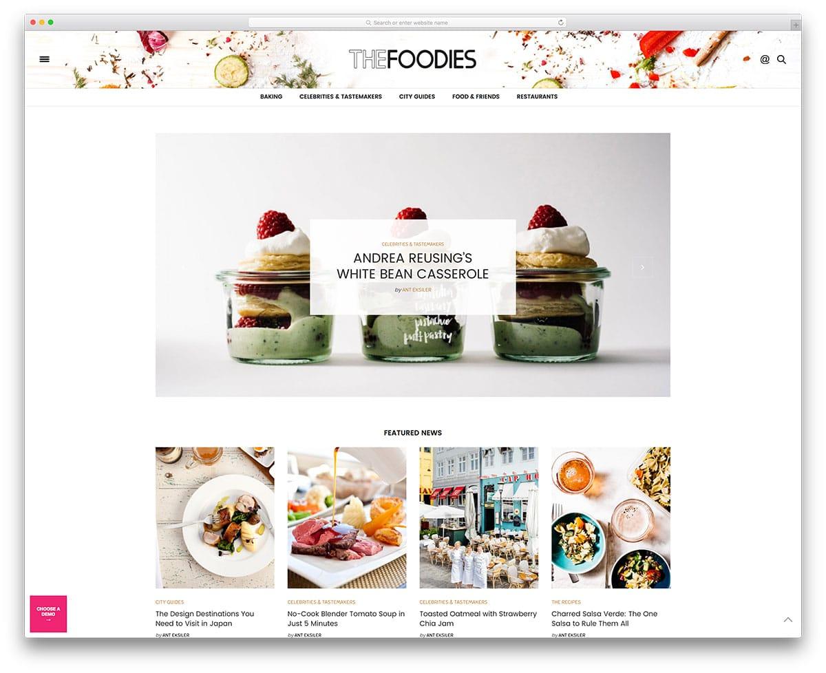 the-voux-minimal-food-blog-website-template