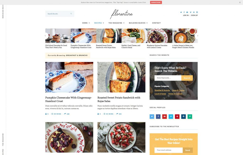 Meridian Recipes