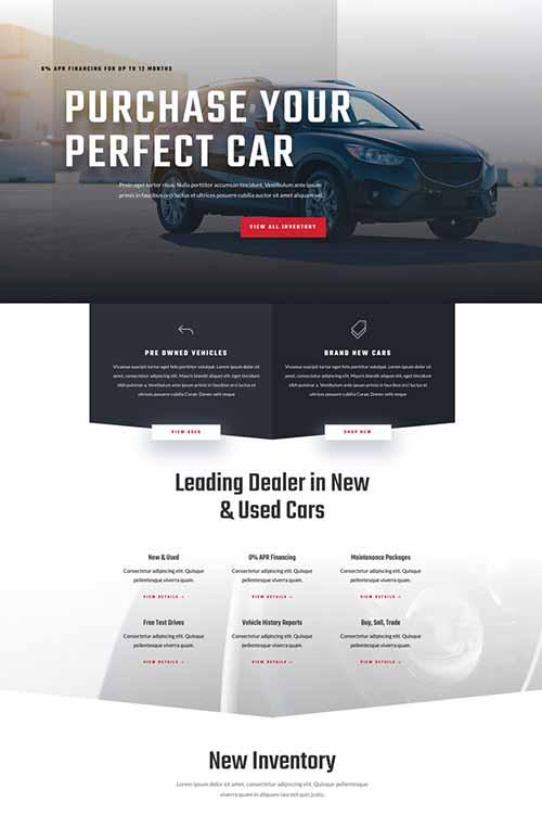 divi theme for car dealer