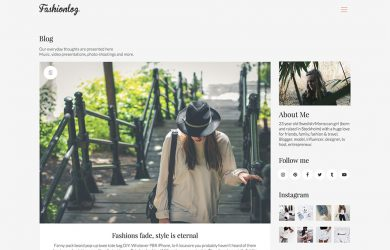 thème blog WordPress