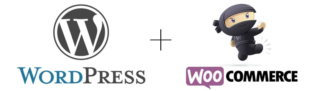 logos WordPress et WooCommerce