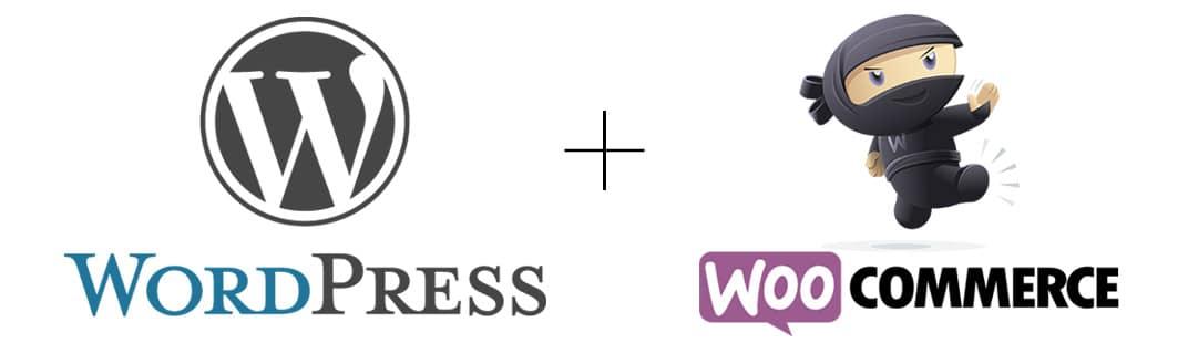 logos WordPress et WooCommerce