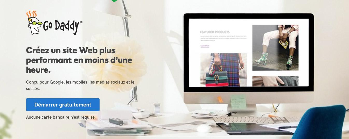 créer un site web avec GoDaddy