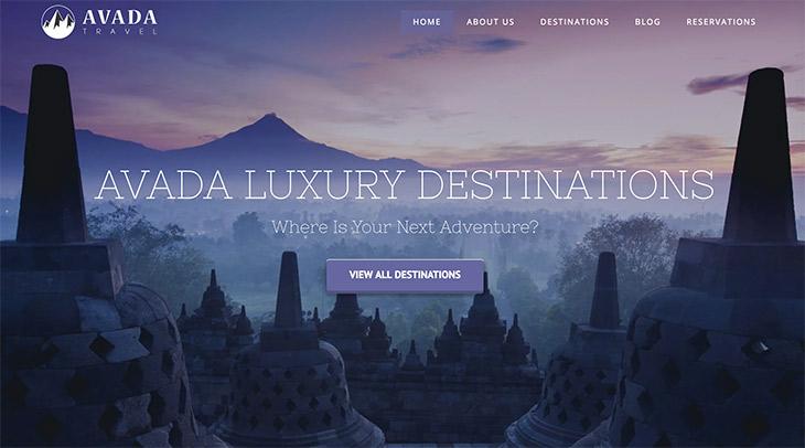 thème Avada Travel